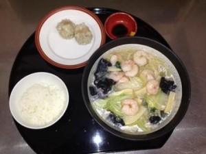 小海老とお野菜の塩味スープ麺