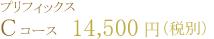 プリフィックスCコース  14,500円