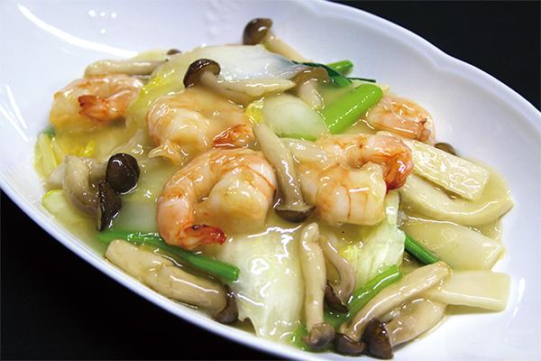天然車海老とお野菜のあんかけご飯